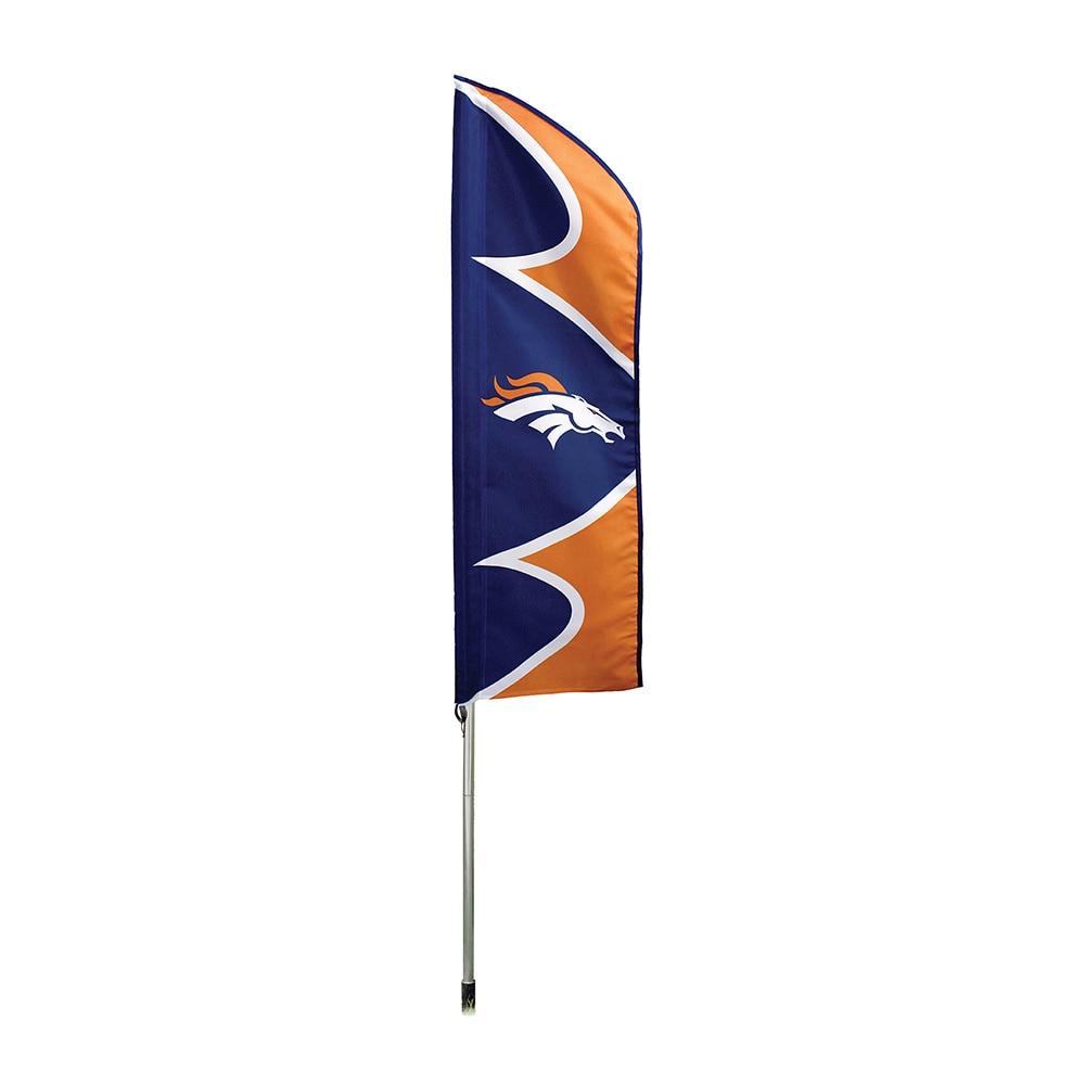 Party Animal Denver Broncos Flag/ Pole, Orange