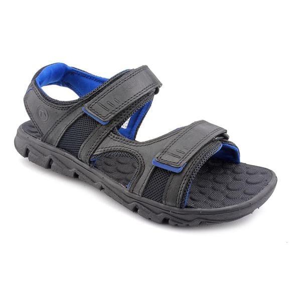 Rockport Men's 'Rocsports Lite Summer Three-Strap' Black Leather Sandals
