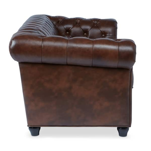 Pleasing Shop Abbyson Tuscan Top Grain Leather Chesterfield Sofa On Alphanode Cool Chair Designs And Ideas Alphanodeonline
