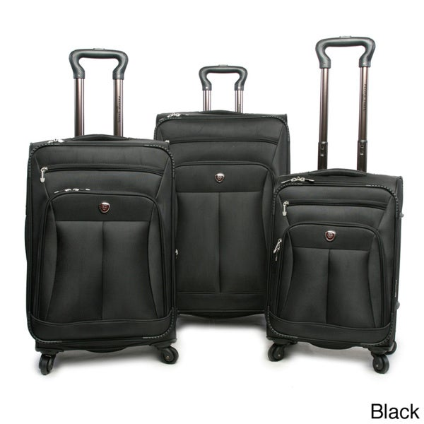 Pacific Coast Brentwood 3-piece Ballistic Nylon Spinner Luggage Set