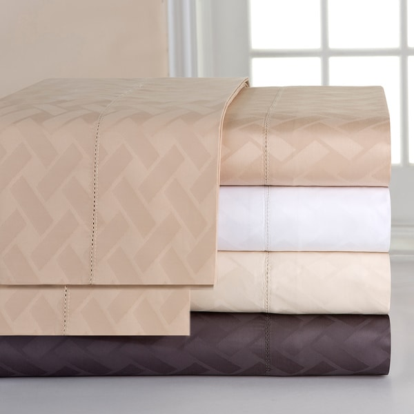 Celeste Home 410 Thread Count Pima Cotton Deep Pocket Jacquard Sheet Set