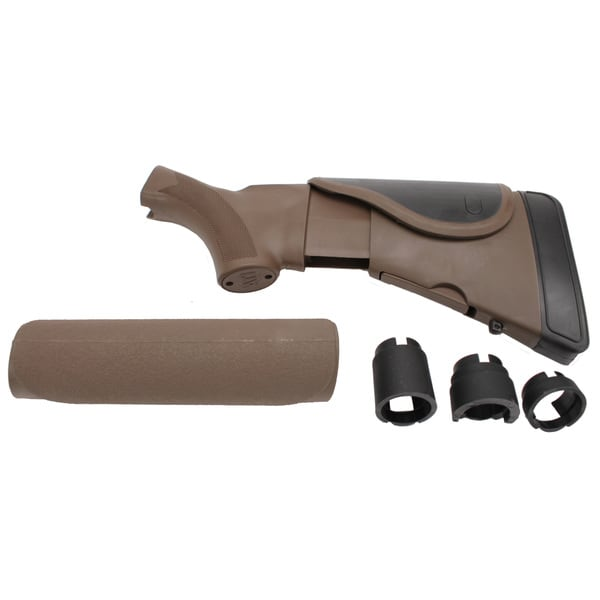 Akita Adjustable Dark Earth Brown Mossberg Stock/Forend with CR/SRS,