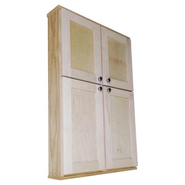 Shaker Series 42-inch Double Door Wall Cabinet
