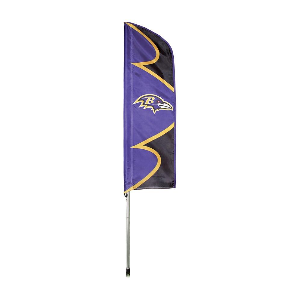 Party Animal Baltimore Ravens Flag/ Pole, Purple