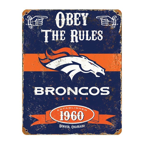 Shop Denver Broncos Vintage Sign - Free Shipping On Orders Over $45 ...