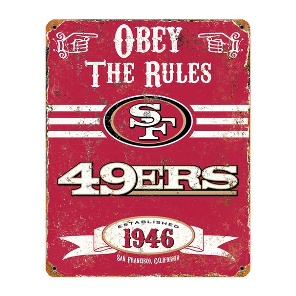 San Francisco 49ers Vintage Sign
