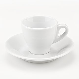 Set of 6 Porcelain Espresso Cups in White, by Lorren Home Trends