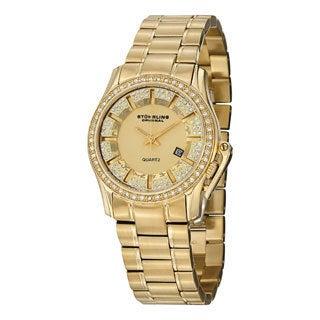 Stuhrling Original Women's Calliope Quartz Austrian Crystal Stainless Steel Bracelet Watch