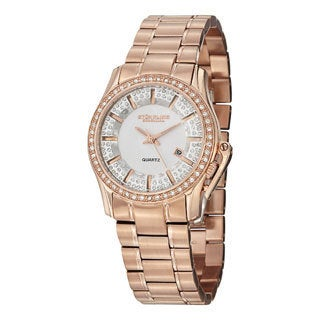 Stuhrling Original Women's Calliope Quartz Crystal Stainless Steel Bracelet Watch