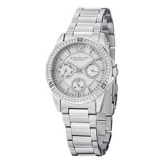 Stuhrling Original Women's Helena Quartz Crystal Stainless Steel Bracelet Watch
