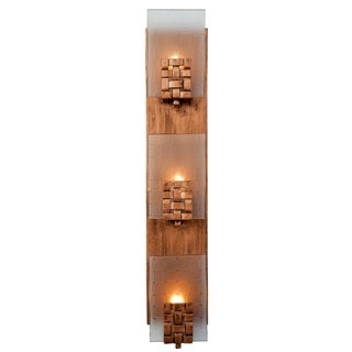 Varaluz Dreamweaver 3-light Blackened Copper Vanity Fixture