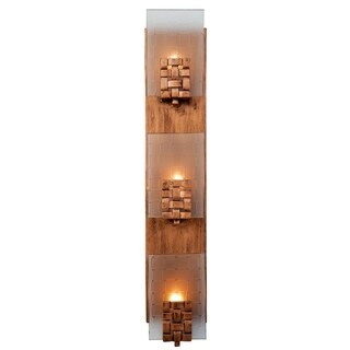 Varaluz Dreamweaver 3-light Blackened Copper Vanity Fixture