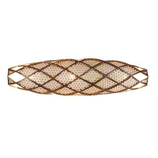 Varaluz Argyle 3-light New Bronze with Desert Pearl Vanity Fixture