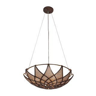 Varaluz Argyle 3-light New Bronze with Desert Pearl Pendant