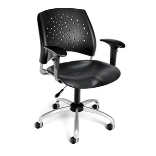 OFM Star Series Plastic Task Chair with Arms