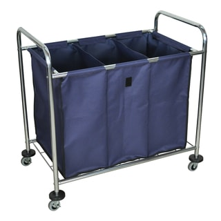 Mobile Heavy Duty Industrial Laundry Sorter Cart/ Triple Dividers