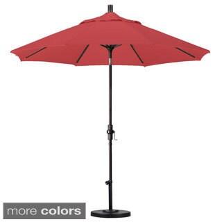 Fiberglass 9-foot Umbrella With Stand