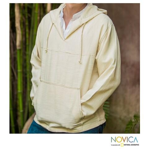 Handmade Men's Cotton 'Grand Nature' Hoodie Pullover (Guatemala)
