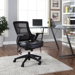 Aspire Black Office Chair with Vinyl Seat
