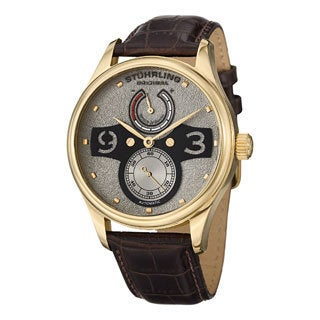 Stuhrling Original Men's Khepri Automatic Leather Strap Watch