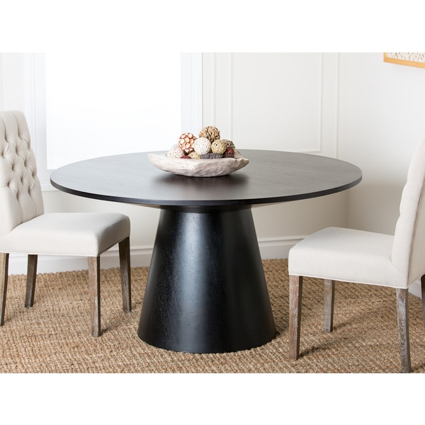 Abbyson sienna contemporary round wood dining table free for Dining room tables home goods
