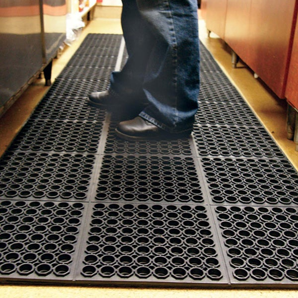 Shop Rubber-Cal Dura-Chef Non-slip Rubber Kitchen Mat (3'2
