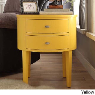 Aldine 2-drawer Oval Wood Accent Table by iNSPIRE Q Bold (More options available)