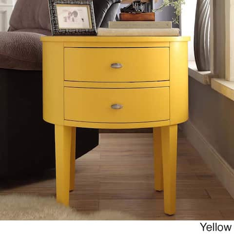 Aldine 2-drawer Oval Wood Accent Table by iNSPIRE Q Bold