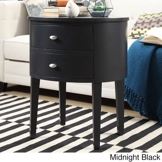 Aldine 2-drawer Oval Wood Accent Table by iNSPIRE Q Bold ...