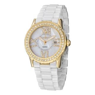 Stuhrling Original Women's Thalia Crystal Ceramic Bracelet Watch