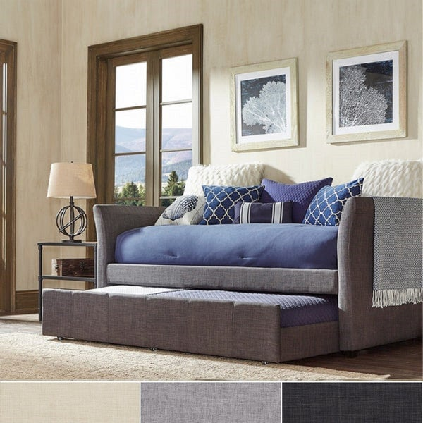 Deco Linen Rolled Arm Daybed and Trundle by iNSPIRE Q Bold