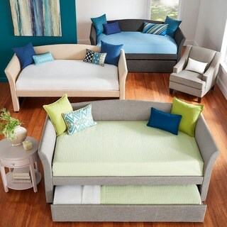 Deco Linen Rolled Arm Daybed and Trundle by iNSPIRE Q Bold (More options available)