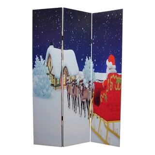 Christmas 3-Panel Canvas Screen