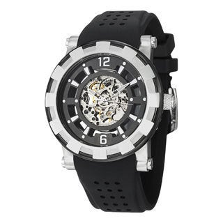 Stuhrling Original Men's Automaton Automatic Skeleton Rubber Strap Watch