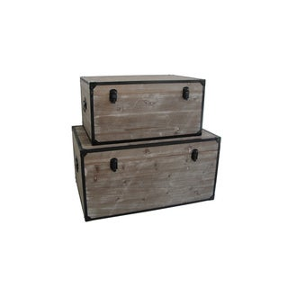 Distressed Wood Industrial Trunks (China)