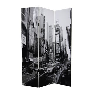 New York City 3-Panel Canvas Screen (China)