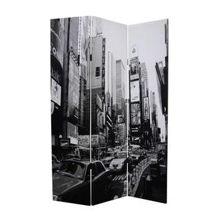 Handmade New York City 3-Panel Canvas Screen (China)