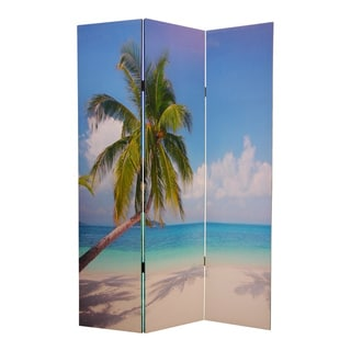 Paradise 3-Panel Canvas Screen