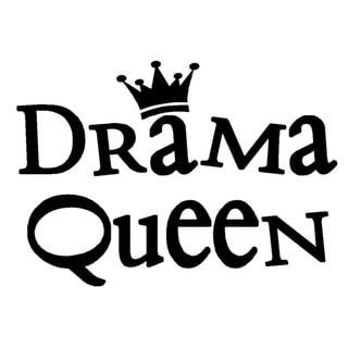 'Drama Queen' Vinyl Wall Art Lettering