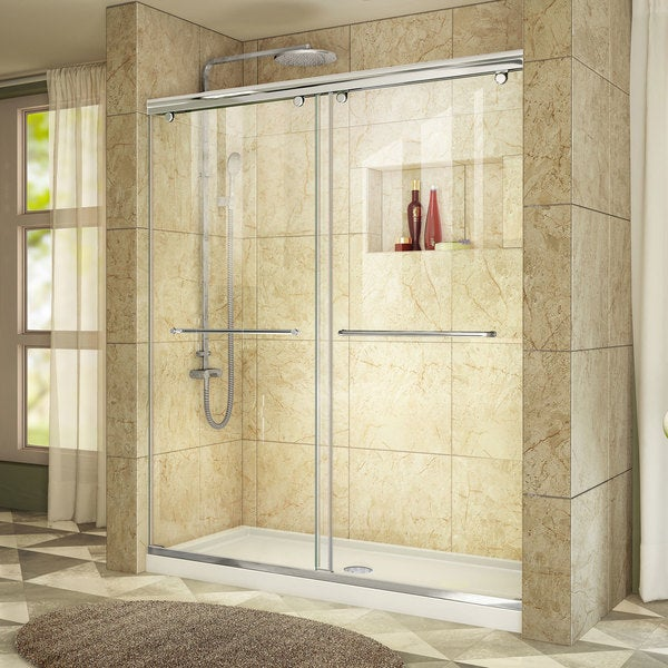DreamLine Charisma Bypass Sliding Shower Door And 36x60 In Shower Base