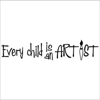 'Every Child is an Artist' Vinyl Wall Art Lettering