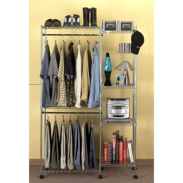 Seville classics ultrazinc closet room organizer with for Room organizer online