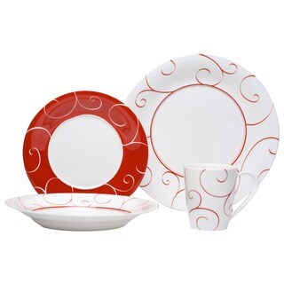 Red Vanilla 'Panache Rouge' 16-piece Dinner Set