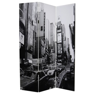 New York Skyline 3-panel Canvas Screen