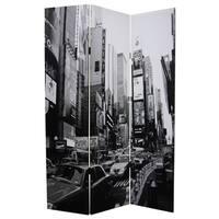 New York Skyline 3-panel Canvas Screen