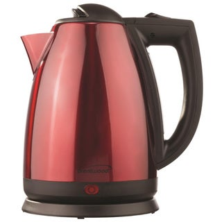 Brentwood KT-1805 2.0 Liter Stainless Steel Electric Cordless Tea Kettle- Red & Black