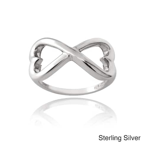 Mondevio Sterling Silver Infinity Heart Ring