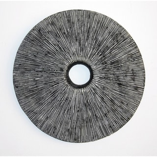Set of 2 Rounded Ribbed Sandstone Wall Decor (China)