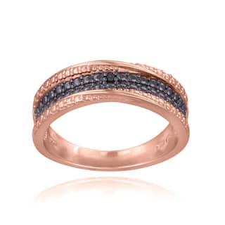 DB Designs 18K Rose Gold over Sterling Silver Black Diamond Accent Twist Ring https://ak1.ostkcdn.com/images/products/8232531/8232531/DB-Designs-18K-Rose-Gold-over-Sterling-Silver-Black-Diamond-Accent-Twist-Ring-P15561616.jpg?impolicy=medium