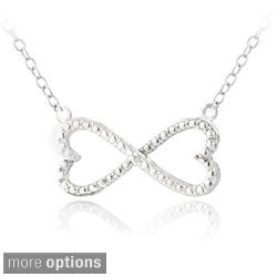 DB Designs Sterling Silver Diamond Accent Infinity Hearts Necklace (3 options available)